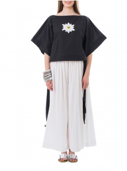 Black Embroidered Top Nicoleta Obis