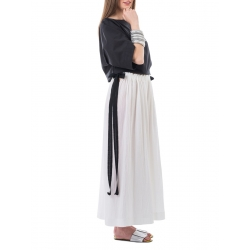 Pantaloni albi Nicoleta Obis