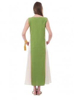 Maxi Green Dress Nicoleta Obis