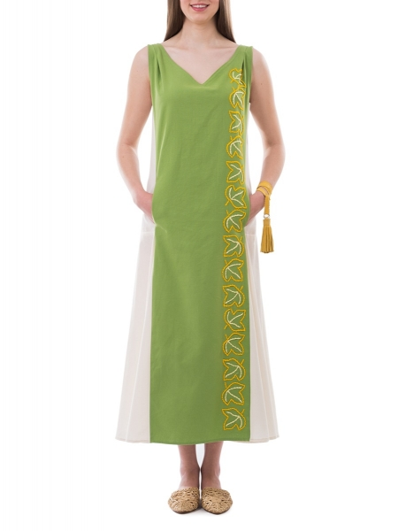 Maxi Green Dress Nicoleta Obis