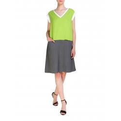 Two Toned Midi Dress Larisa Dragna