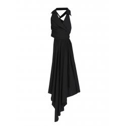 Black Asymmetric Vest Larisa Dragna