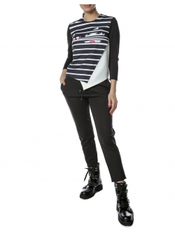 Printed Top With Stripes Entino