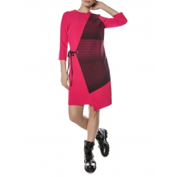 Magenta Dress With Sleeves Entino