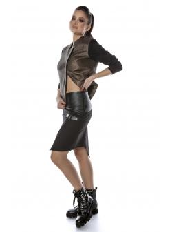 Black Cotton Skirt Entino