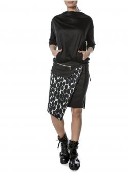 Black And White Skirt Entino