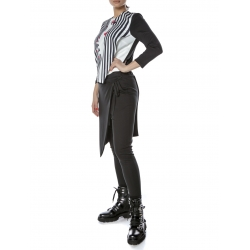 Black Asymmetric Pants Entino