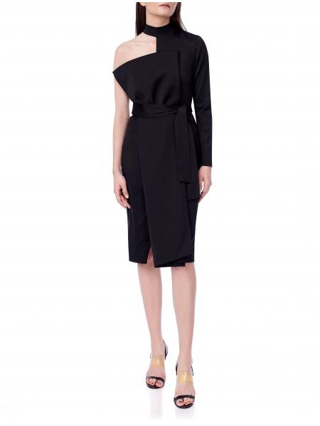 Midi Black Dress Ramelle
