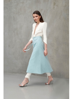 Light Blue Haseya Skirt Ramelle