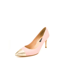 Powder Pink And Gold Stiletto Shoes Ginissima