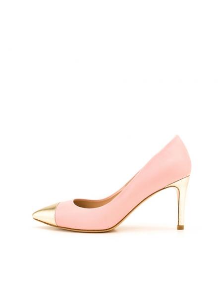 Pantofi din piele naturala cu varf oglinda Ginissima