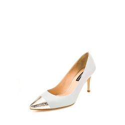 Gold And Powder Blue Stiletto Shoes Ginissima