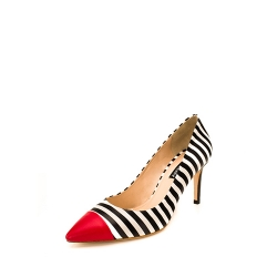 Stripped Stiletto Shoes Ginissima