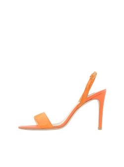 Orange Natural Leather Sandals Agata Ginissima