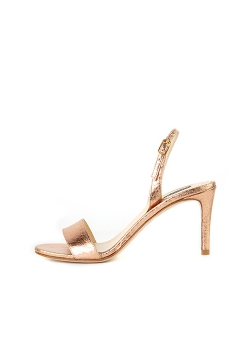 Rose Gold Python Sandals Ginissima
