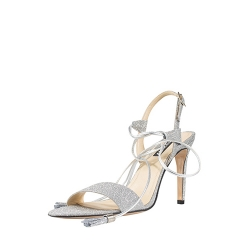 Sparkling Silver Sandals Ginissima