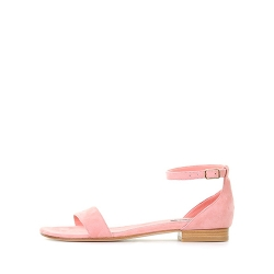 Powder Pink Flat Sandals Ginissima