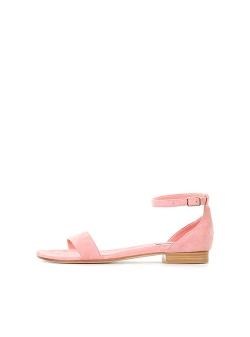 Sandale roz prafuit din piele naturala Ginissima