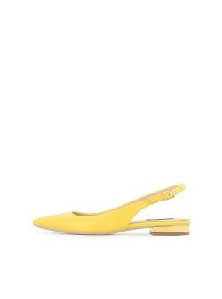 Sandale galbene din piele naturala Ginissima