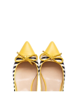 Yellow Striped Flats Ginissima