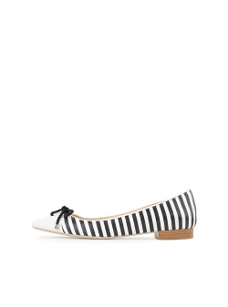 White Striped Flats Alice Ginissima