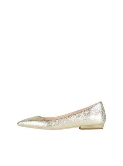Balerini aurii din piele naturala Alice Ginissima
