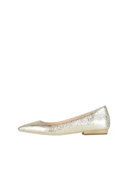Golden Stiletto Flats Ginissima