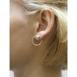 Cercei cu perle naturale argintii Gabriela Secarea