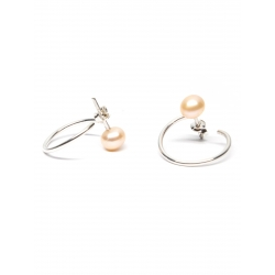 Cercei cu perle naturale roz Gabriela Secarea
