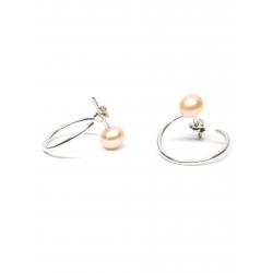 Minimalist Rose Pearl Earrings Gabriela Secarea