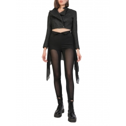 Black Fitted Asymmetric Pants Larisa Dragna