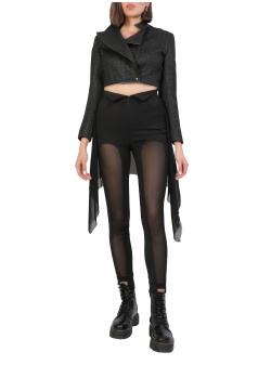 Pantaloni asimetrici negri Larisa Dragna