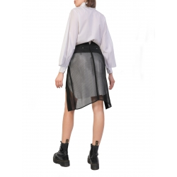 Asymmetric Mesh Skirt Larisa Dragna