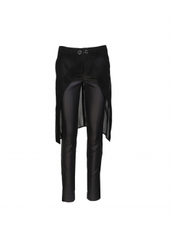 Black Pants With Detachable Skirt Larisa Dragna