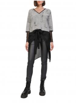 Pantaloni cambrati cu plasa neagra Larisa Dragna