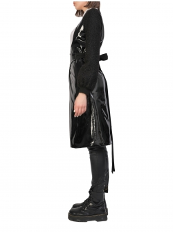 Black Asymmetric Jacket Larisa Dragna