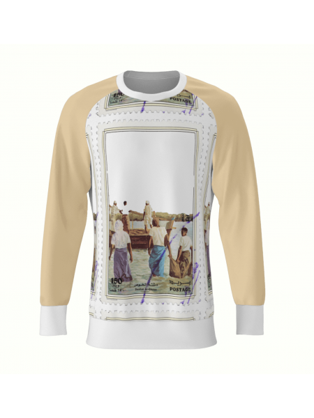 Postcard Printed Sweatshirt My Simplicated