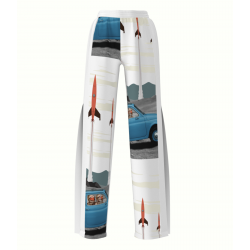 Sport Pants With Digital Print Retro My Simplicated