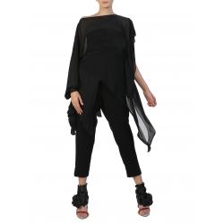 Asymmetric Black Blouse Silvia Serban