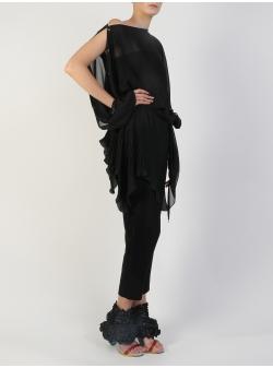 Bluza asimetrica din voal Silvia Serban