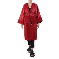 Modular Red Faux Fur Coat Silvia Serban
