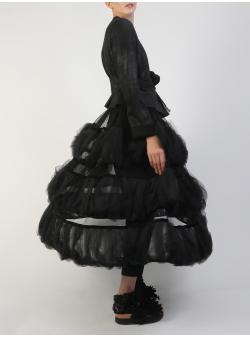 Black Volumetric Ruffled Skirt Silvia Serban