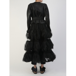 Black Volumetric Ruffled Skirt Silvia Serban