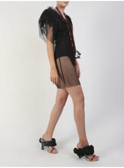 Short Tulle Black Dress Silvia Serban