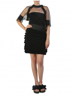 Black Short Skirt Silvia Serban