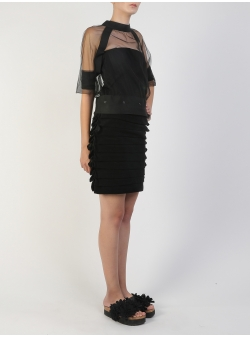 Bluza din tulle negru Silvia Serban