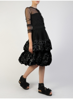 Black Tulle Tunic Silvia Serban