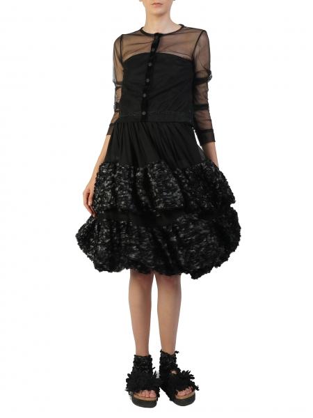 Tunica din tulle negru Silvia Serban