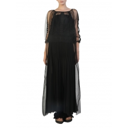 Black Long Dress With Embroidery Silvia Serban