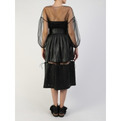 Black Tulle Blouse With Sleeves Silvia Serban
